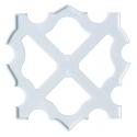 marco para placa pegboard cuadrada transparente 15 x 15 cm hama beads midi