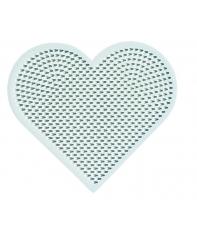 placa pegboard corazón para hama beads mini