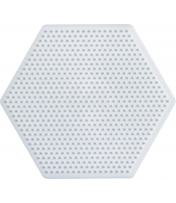 placa pegboard hexagonal 7 cm para hama beads mini
