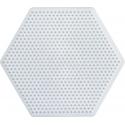 placa pegboard hexagonal 7 cm para hama beads mini