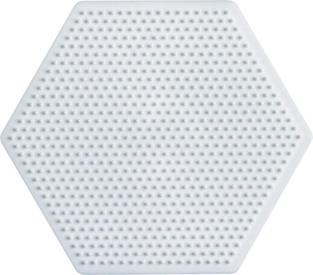 placa pegboard hexagonal para hama beads mini