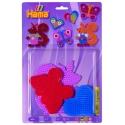 blíster 3 placas pegboards (mariposa, ardilla y corazón pequeño) para hama beads midi