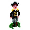 pack de inicio piratas (3000 piezas, 8 soportes y placa pegboard) hama beads midi