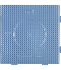 placa pegboard cuadrada trasparente 15x15 cm conectable para hama beads midi