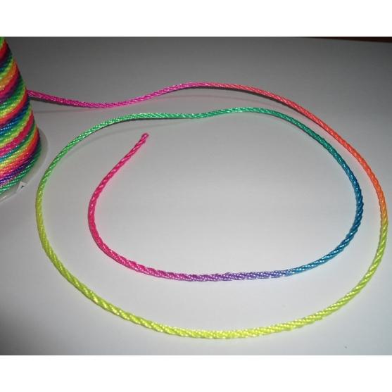 cuerda de nailon multicolor  1.5 mm hama beads