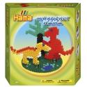 pack my pocket hama dinosaurios (1000 piezas, 3 soportes y 1 placa pegboard) hama beads midi