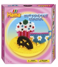 pack my pocket hama cup cake (1000 piezas, 3 soportes y 1 placa pegboard) hama beads midi