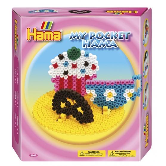 Con este pequeño pack my pocket hama cup cake, tendrás todo lo necesario para empezar con creaciones hama beads midi.