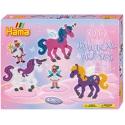 pack de inicio unicornios mágicos (4000 piezas y 2 placas pegboards) hama beads midi