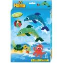 pack de inicio delfines (2000 piezas y 2 placas pegboards) hama beads midi