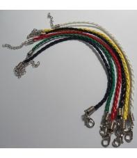 pulsera de cuero 20 cm hama beads 5 colores disponibles