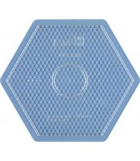 placa pegboard hexagonal transparente 15 cm para hama beads midi