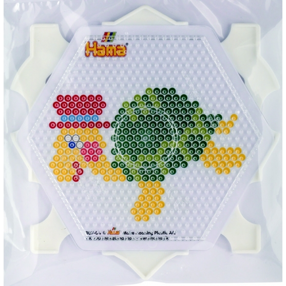 pack marco múltiple hexagonal hama beads midi