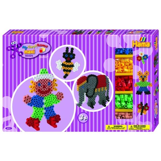 pack de inicio elefante y payaso (900 piezas, 4 soportes y 2 placas pegboards) hama beads maxi