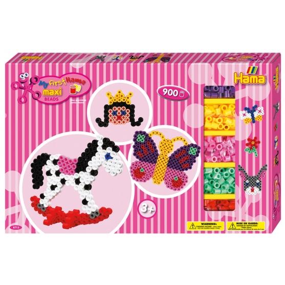 pack de inicio mariposa y caballo balancín (900 piezas, 4 soportes y 2 placas pegboards) hama beads maxi