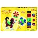 pack de inicio perro y pez  (900 piezas, 3 soportes y 2 placas pegboards) hama beads maxi