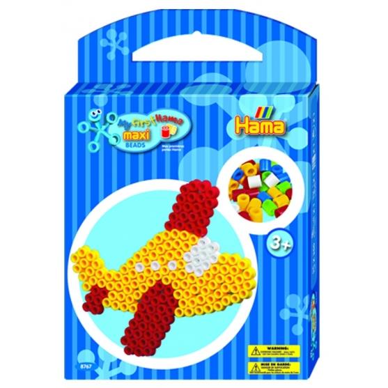 pack de inicio avión (350 piezas y placa pegboard) hama beads maxi