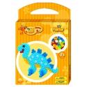 pack de inicio dinosaurio (350 piezas, 2 soportes y placa pegboard) hama beads maxi