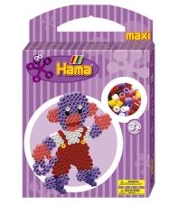 pack de inicio mono (350 piezas, 2 soportes y placa pegboard) hama beads maxi