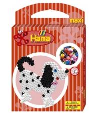 pack de inicio perro (350 piezas, 2 soportes y placa pegboard) hama beads maxi