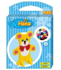 pack de inicio osito (350 piezas, 2 soportes y placa pegboard) hama beads maxi