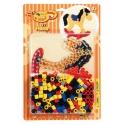 pack blister caballito balancín (250 piezas, 2 soportes y placa pegboard) hama beads maxi