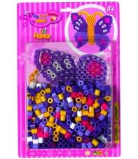 pack blister mariposa (250 piezas, 2 soportes y placa pegboard) hama beads maxi