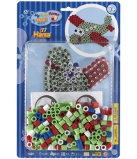 pack blister avión (250 piezas, 2 soportes y placa pegboard) hama beads maxi