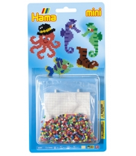 blister fondo del mar (2000 piezas y 1 placa pegboard) hama beads mini
