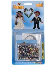 blister novios (2000 piezas y 1 placa pegboard) hama beads mini