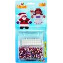 blister navidad (2000 piezas y 1 placa pegboard) hama beads mini