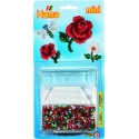 blister flores (2000 piezas y 1 placa pegboard) hama beads mini