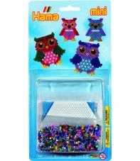 blister búhos (2000 piezas y 1 placa pegboard) hama beads mini