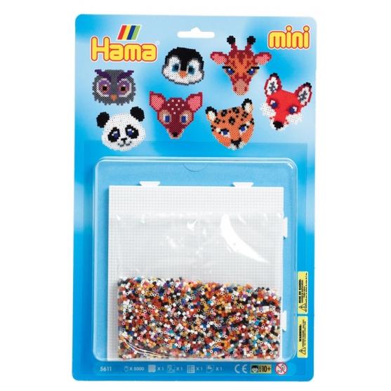 blister caras de animales  (5000 piezas y 1 placa pegboard ) hama beads mini
