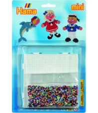blister mar (5000 piezas y 1 placa pegboard) hama beads mini