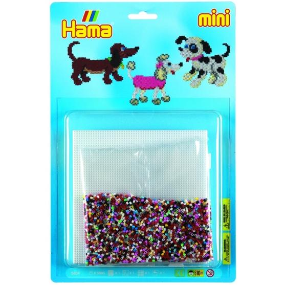 blister perros (5000 piezas y 1 placa pegboard) hama beads mini