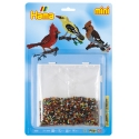 blister pajaros  (5000 piezas y 1 placa pegboard ) hama beads mini