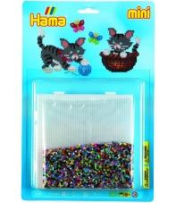 blister gatos  (5000 piezas y 1 placa pegboard ) hama beads mini