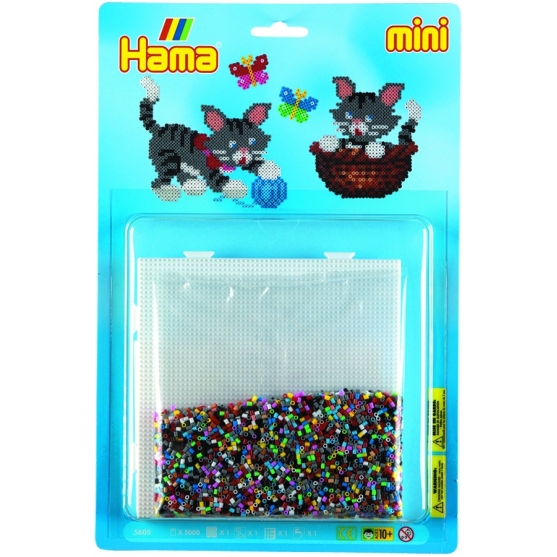 blister gatos  (5000 piezas y 1 placa pegboard ) hama beads mini