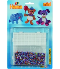 blister animales (5000 piezas y 1 placa pegboard ) hama beads mini
