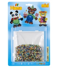 blister ositos (5000 piezas y 1 placa pegboard ) hama beads mini