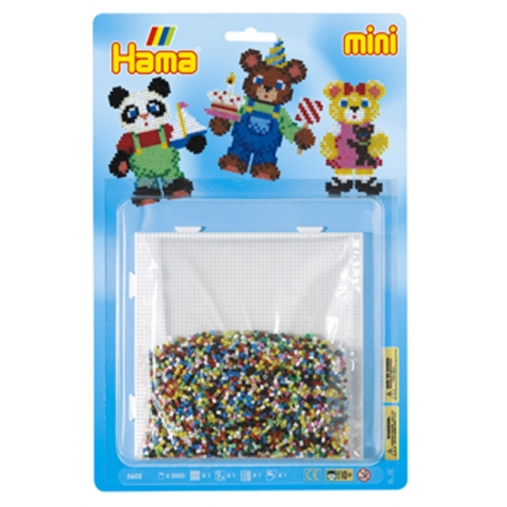 blister ositos (5000 piezas y 1 placa pegboard ) hama beads mini