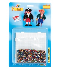 blister piratas (5000 piezas y 1 placa pegboard ) hama beads mini