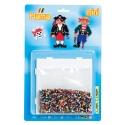 blister piratas (5000 piezas y 1 placa pegboard ) hama beads mini