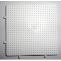 placa pegboard cuadrada de 7 x 7 cm conectable para hama beads mini