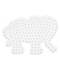 placa pegboard elefante pequeño  para hama beads midi