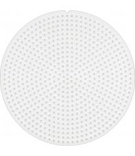 placa pegboard redonda 7 cm para hama beads mini