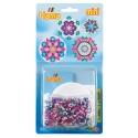 blister círculo (2000 piezas y 1 placa pegboard) hama beads mini