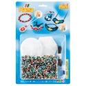 blister pulseras y colgantes (5000 piezas y 2 placas pegboards ) hama beads mini