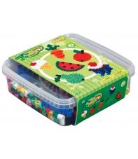 pack de inicio (600 piezas, 2 soportes y 1 placa pegboard) hama beads maxi